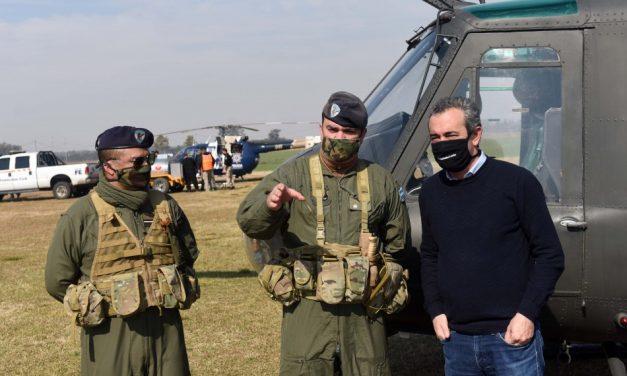 Fuego en islas: Javkin visitó a brigadistas y renovó exhortación a encontrar «soluciones de fondo» para el Humedal